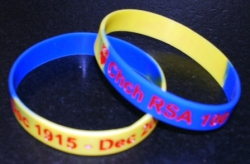 Chch Memorial RSA 100 Years Latex Wristbands